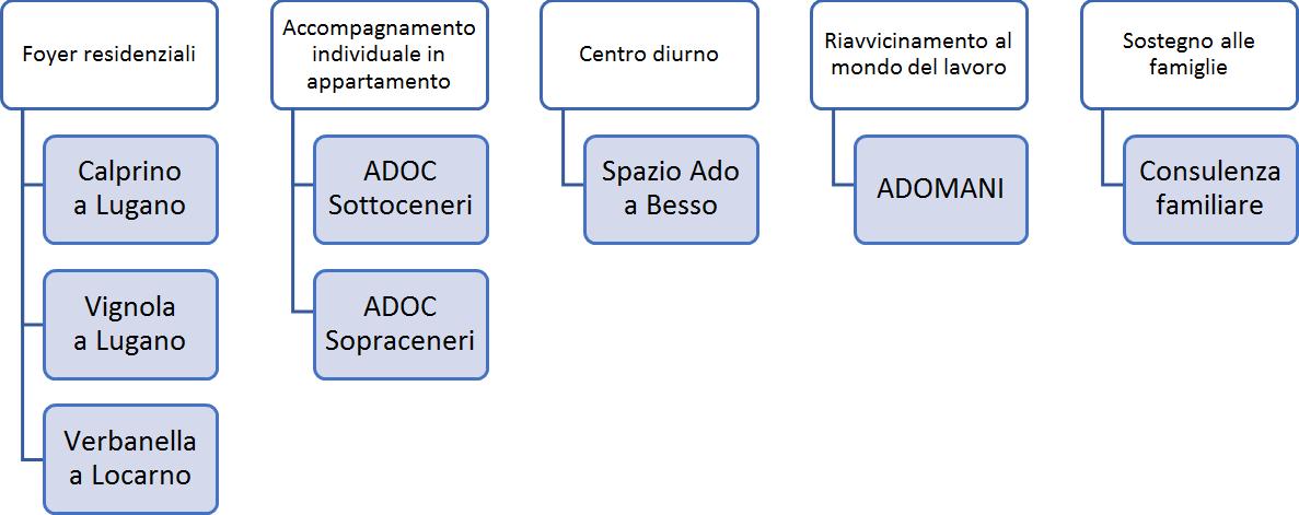 Organigramma Strutture Fondazione Amilcare